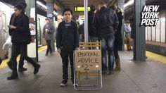 This amazing kid has turned the subway platform into a therapy office