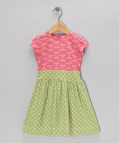 Take a look at this Pink Shell Honeycomb Organic Dress - Infant, Toddler & Girls on zulily today!