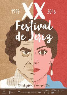 XX FLAMENCO FESTIVAL OF JEREZCartel festival de Flamenco de Jerez. 2016