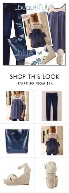"""... beautiful blue"" by svijetlana ❤ liked on Polyvore featuring Blue, polyvoreeditorial and twinkledeals"