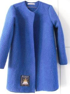 Jas Vest van een blauw vintage deken, mt. M van MORETHANVINTAGE op DaWanda.com