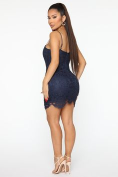 All Day Long Lace Mini Dress – Navy – fashion nova jeans Nova Dresses, Sexy Dresses, Fashion Dresses, Casual Wear, Casual Outfits, Cute Outfits, Curvy Girl Fashion, Swagg, Carnival