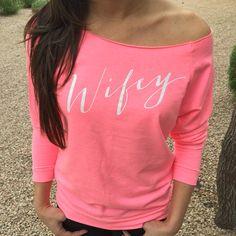Wifey Wifey sweatshirt Wifey Off Shoulder Shirt Mrs by ShirtMarket