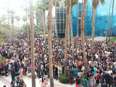 JW District convention in Long Beach, CA 6/21/14- our Spanish brothers  sisters waiting to go in at 7:30am. It was full to max capacity by 9:30am