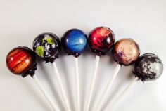 These outer space lollipops. | 29 Gifts That Are Out Of This World ~ Their shop also has nuroscience and 'creepy eye' ones, + more!