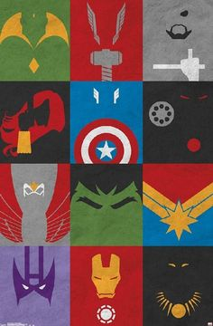 This Marvel Avengers - Minimalist Grid poster is sure to make you a superhero. From the Avengers collection, this poster will empower you to greatness. Marvel Avengers, Marvel Comics, Avengers Poster, Superhero Poster, Marvel Art, Marvel Heroes, Captain Marvel, Captain America, Poster Marvel