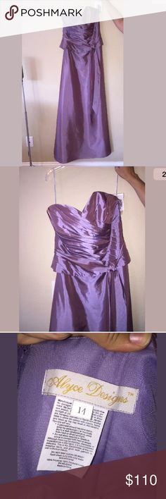 NWT Alyce Paris eggplant purple Victorian dress 14 Strapless but sold with straps. Perfect for prom or a wedding Alyce Paris Dresses Prom