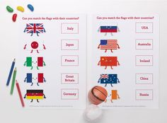 FREE Flags of the World Printables for Kids ~ Tinyme