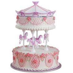 Wilton merry go round Cake Decorating Set | Details about Wilton CAROUSEL CAKE TOPPER SET Horse Pony Birthday Kit