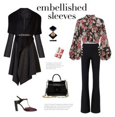 """Floral bell sleeves"" by minorseventh ❤ liked on Polyvore featuring Jill Stuart, 10 Crosby Derek Lam, BCBGMAXAZRIA, Dolce&Gabbana, Maison Margiela, Serge Lutens Beauté and Paul & Joe"