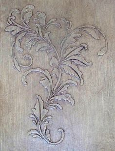 Plaster Stencil New England I love antique designs of all kinds and this Raised Plaster Stencil has me mesmerized. I can see it being used as a random wallpaper over linen finished walls then detailed with a rich, deeply colored glaze.  But look how great it looks when simply painted over with your favorite wall color. The beauty of just the shadows is breath taking. Great as a central design on doors or even trailed over windows. http://victorialarsen.com/plaster_stencil_new_england.html