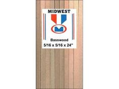 Other Wood and Project Materials 183160: Midwest Basswood Strips 5 16 X 5 16 X 24 -> BUY IT NOW ONLY: $38.38 on eBay!