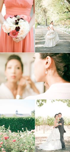 I love everything about this wedding setup! It is so lovely #coral