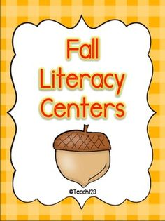 FALL Literacy Centers aligned with Common Core Standards Kindergarten Literacy, Literacy Centers, Classroom Activities, Classroom Ideas, Classroom Organisation, Reading Centers, Writing Activities, Primary Teaching, Teaching Reading