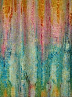 """Igneous Tourmaline - Watercolor water mark with metallic accent print fabric for dapery or light use upholstery. Content:55% Linen, 45% Viscose Rayon. Repeat; H 27"""" x V 25"""". up the roll repeat. 54"""" wide"""