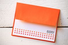 There is nothing as great as personalized stationary. And I just love orange.