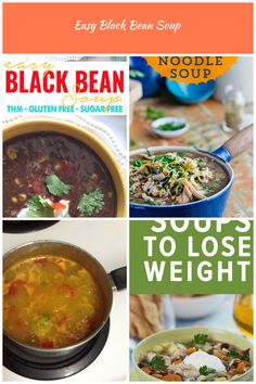 Easy Black Bean Soup (THM E • Low Fat • Gluten Free) via @TJsTaste diet soup Easy Black Bean Soup