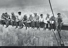 MEN ON GIRDER - new york Europosters