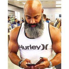 Cool grey beard