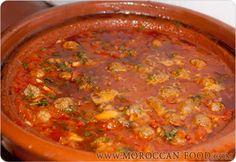 I adore Morroccan food, there's something fantastically simple and yet utterly delicious about tajines.  kefta matecha - tomato sauce tajine