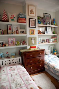 Small, pretty shared bedroom for girl and boy | Bondville