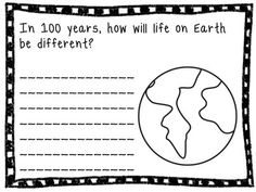 100th Day of School Writing Activity- fun writing prompts for the 100th Day of School (or the whole week)!