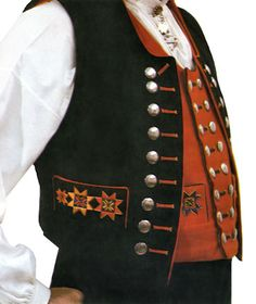 Men's Fana bunad - Norwegian folk costume - many buttons Folk Costume, Costumes, Norwegian Clothing, Folk Clothing, Scandinavian Style, Traditional Dresses, Norway, Theatre, Going Out