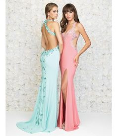 Please allow a 4 day handling time for this dress. Slinky jersey makes this aqua blue gown a very sexy, necessary piec.....Price - $498.00-2MSNS6gw