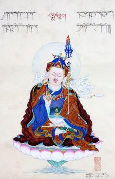 Padmasambhava Artwork by the 17th Gyalwang Karmapa