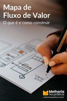 """O mapeamento do fluxo de valor (também conhecido como Value Stream Mapping em inglês ou sua abreviação VSM) é uma técnica Lean (da manufatura enxuta) para analisar, projetar e gerenciar o fluxo de materiais e informações necessários para levar um produto até o cliente. Também conhecido como """"mapeamento do fluxo de material e informação"""" ele usa um sistema de símbolos padrão para representar vários fluxos de trabalho e fluxos de informação. Brainstorm, Lean Seis Sigma, Playing Cards, Operational Excellence, Sales Process, Ishikawa Diagram, Problem Solving, Goals, Playing Card Games"""