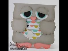 Owl Punch Art card using sweet sorbet designer paper and several stampin up punches. http://www.luvinstampin.com/2014/01/sale-brate-owls.html
