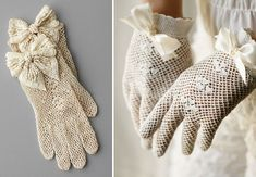 """vintage lace gloves"""