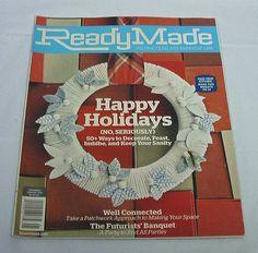 2010 Ready Made Magazine Home Crafts DIY Decoration Art Garden Recipes Paper