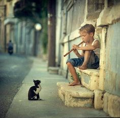 adorable boy and kitty // The 60 Most Powerful Photos Ever Taken That Perfectly Capture The Human Experience Tier Fotos, Belle Photo, Crazy Cats, Cats And Kittens, Cool Photos, Cute Animals, Baby Animals, Kitty, Beautiful