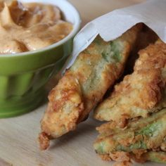 Avocado Fries with Garlic Lime Chili Aioli