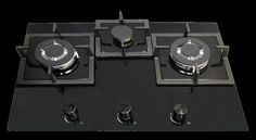 Alf 72, built-in 3 burner glass gas hob, The triple flame high power wok burner suitable for Indian cooking. Nagold by Hafele