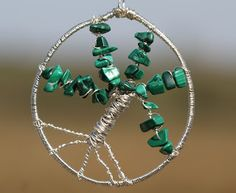 Angela Smith Jewellery: malachite tree of life
