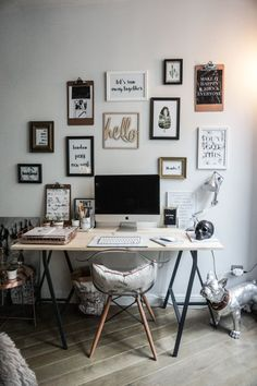 inspirational art in a home office