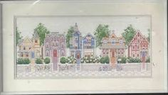 Image result for victorian houses counted cross stitch