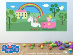 Lovely A Fabulous Door Or Wall Mural For The Peppa Fans. | Peppa Pig Murals |  Pinterest Part 31