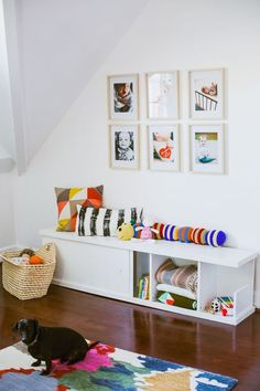 DIY nursery bench with storage // A Beautiful Mess Plywood Projects, Easy Wood Projects, Furniture Projects, Diy Furniture, Plywood Furniture, Furniture Design, Diy Storage Bench, Diy Bench, Built In Storage