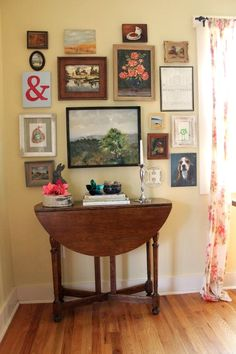 I love how modern pieces are mixed with beautiful, old master style paintings.  Living With Kids: Carey Denman