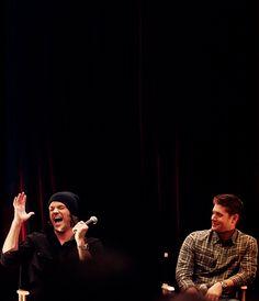 Jared and Jensen, love this laugh.