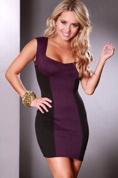 This elegant dress is one to catch attention anywhere you go! Its perfect for a night out with your gals or on a nice date. Perfect for any kind of occasion. It features two toned colors, ruched front, cutout back, short sleeves and its tight fitted to show off your sexy curves. Finish off with some sexy heels, jewelry, and a cute hand bag. Model is wearing a small. 44% polyester, 30% rayon, 23% nylon, 3% spandex.
