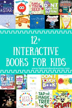 Babies to Bookworms provides a list of fun interactive books for kids and families to enjoy over and over again! #KidsBooks #ReadAloud #InteractiveBooks