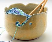 Ceramic Yarn Bowl by Marianne DeMartini of Adventures in Clay