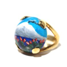 Gioielli #Sicilia. Anello sfera in agata bianca dipinta a mano, struttura in argento 925 Gemstone Rings, Gemstones, Jewelry, Gold, Jewlery, Gems, Jewerly, Schmuck, Jewels