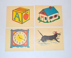 Vintage Rhyming Illustrated Flash Cards by KrisVintageClothing, $10.00