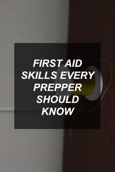 First Aid Skills Every Prepper Should Know   Survival Shelf   Survivalist & Prepper Links