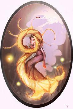 Disney Elementals Rapunzel v2 by ~CeruleanRaven on deviantART